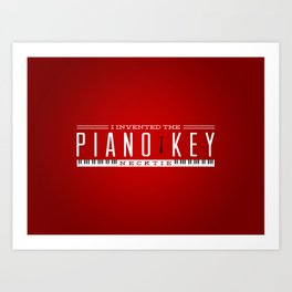 Piano Key Neck Tie Art Print