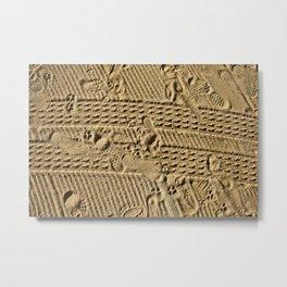 The Diary of a Beach. Metal Print