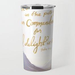Psalm 119:35 Travel Mug