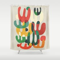 cactus Shower Curtains featuring Cactus by Picomodi