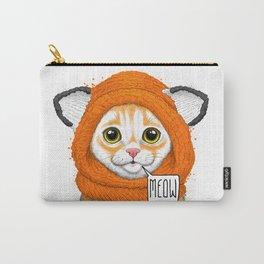 kitten in fox cap Carry-All Pouch