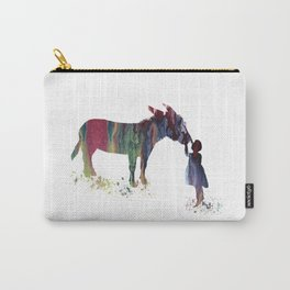 donkey and child art Carry-All Pouch