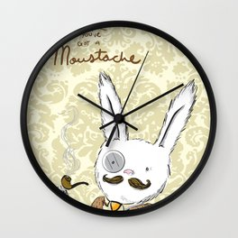 Moustache wins. Always. Wall Clock