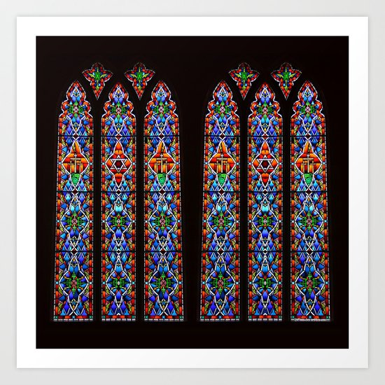Mary's Mountain Windows Art Print