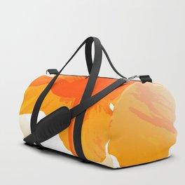 Lovely Orange Poppies White Background #decor #society6 #buyart Duffle Bag