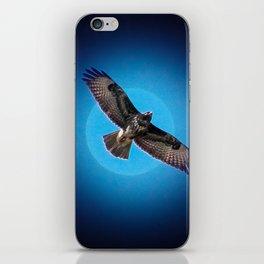 Bird of prey in the moonlight iPhone Skin