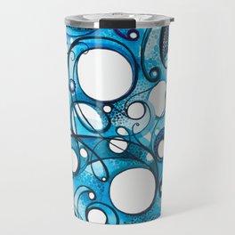 Medium Hadron Collider - Watercolor Painting Travel Mug