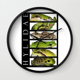Tree frogs of North America - Hylidae Wall Clock