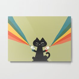 Ray gun cat Metal Print