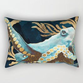 Indigo Octopus Rectangular Pillow