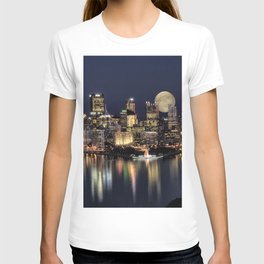 Moon Rise Over Pittsburgh T-shirt