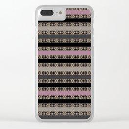 Openwork striped pattern Clear iPhone Case