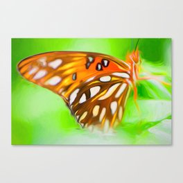 Orange Butterfly Wing Canvas Print