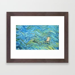 Small Boat on The High Seas Framed Art Print