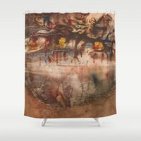 middle earth Shower Curtains featuring Middle of the Earth by Loredana