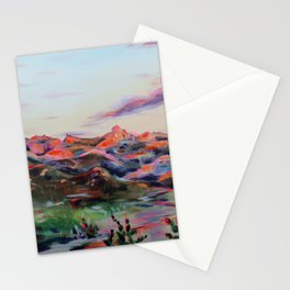 Tucson Sunset by the Catalina foot hills - Thimble peak Stationery Cards