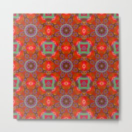 Abstract Flower Pattern AAA RRR BB Metal Print