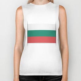 Flag of Bulgaria. The slit in the paper with shadows. Biker Tank