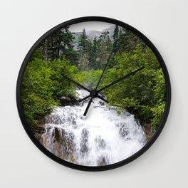 Skagway Waterfall Wall Clock