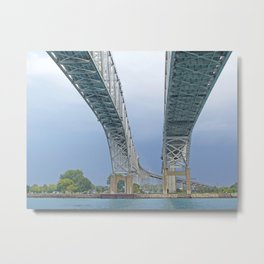 Crossing to Canada Metal Print