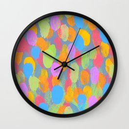 Dancing Dabs of Color! Wall Clock