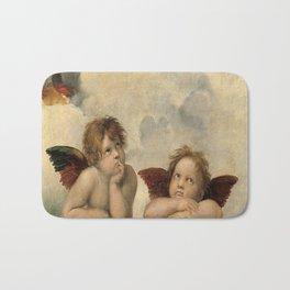 Raphael – Madonna Sistine – detail – two putti Bath Mat