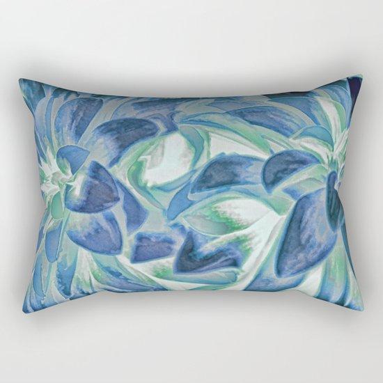 Midnight Floral Abstract Rectangular Pillow