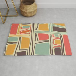 Whimsical abstract pattern design Rug