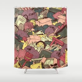 Hoarder Shower Curtain