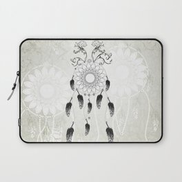 Dreamcatcher in black and white Laptop Sleeve