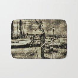 Thames Sailing Barges Vintage Bath Mat