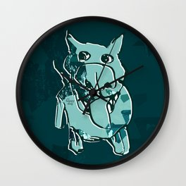 Citydog, teal Wall Clock