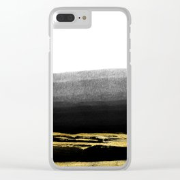 Black & Gold Stripes on White - Mix & Match with Simplicty of life Clear iPhone Case