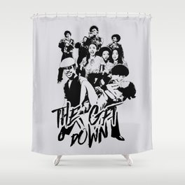 get down on it Shower Curtain