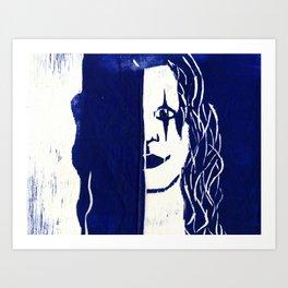 Brandon Lee Blue Art Print
