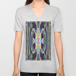 165 - colourful abstract design Unisex V-Neck