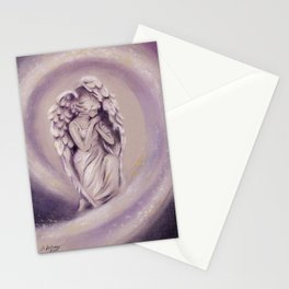 Guardian Angel - Angel painting Stationery Cards