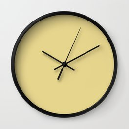 Custard Color Accent Wall Clock