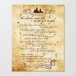 We solemnly swear that we are up to no good print - potter Canvas Print