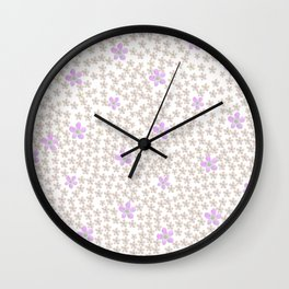 Modern hand painted lavender coral watercolor floral Wall Clock