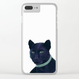 Big Cat Clear iPhone Case