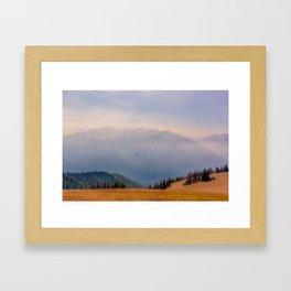 Hurricane Ridge Haze Framed Art Print