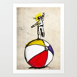 off balance Art Print