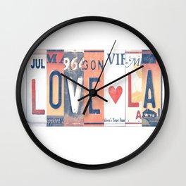 LOVE LA License Plate Art Wall Clock