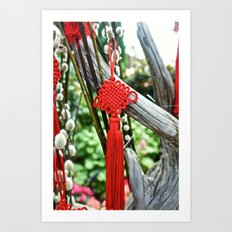 Chinese Knot (Red) Art Print