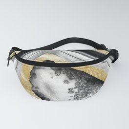 Agate Gold Foil Glam #1 #gem #decor #art #society6 Fanny Pack