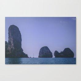 Sailing Between the Rocks Canvas Print
