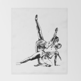 ballet dancers Throw Blanket