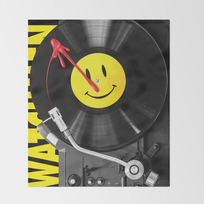 """""""Bloody Turntable"""" Watchmen fan art Throw Blanket"""