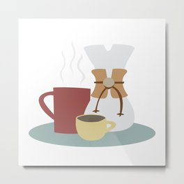Coffee (Pour Over) Metal Print